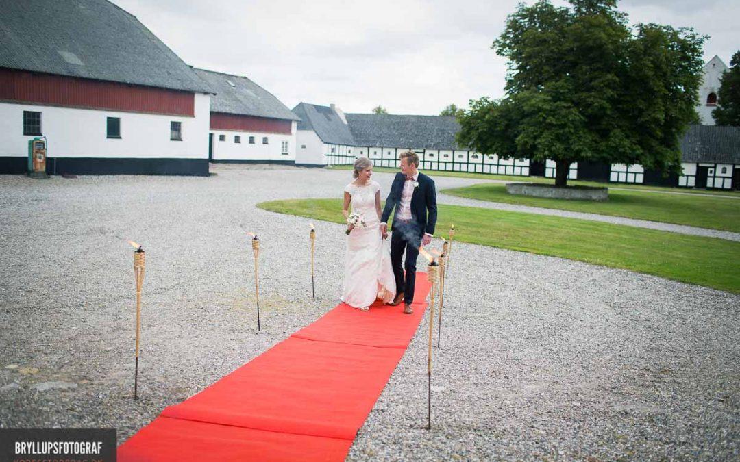 Bryllup på Sebber Kloster i Nordjylland