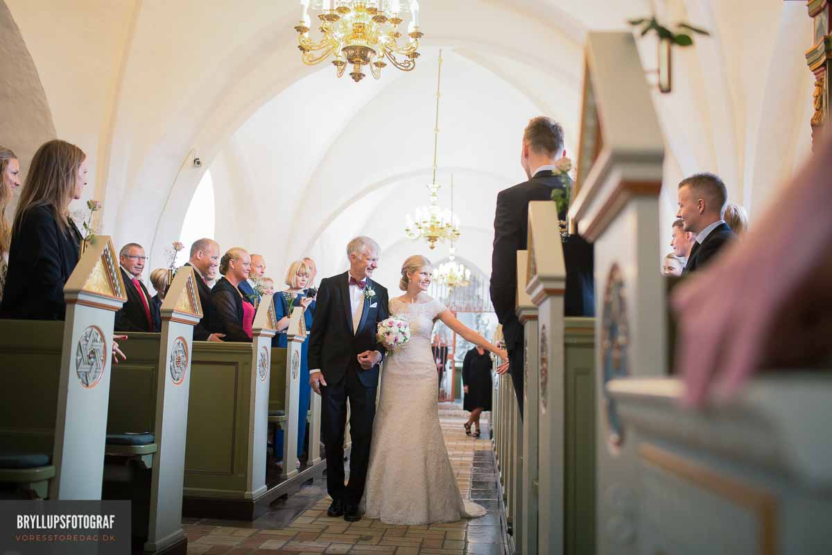 Billeder af Vadum Kirke bryllup