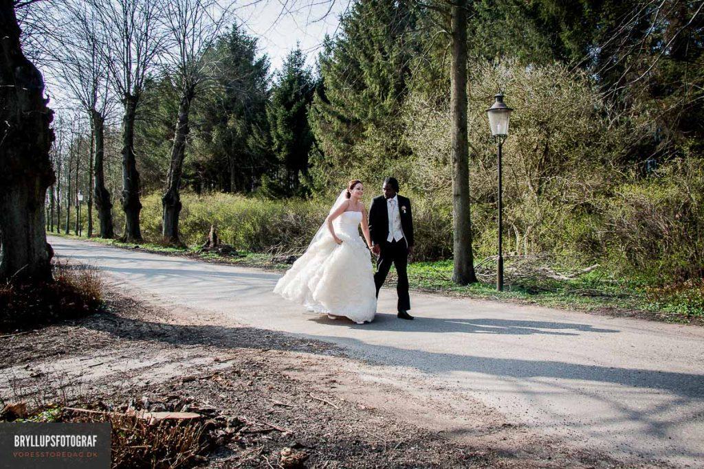 de officielle bryllupsportrætter af brudeparret
