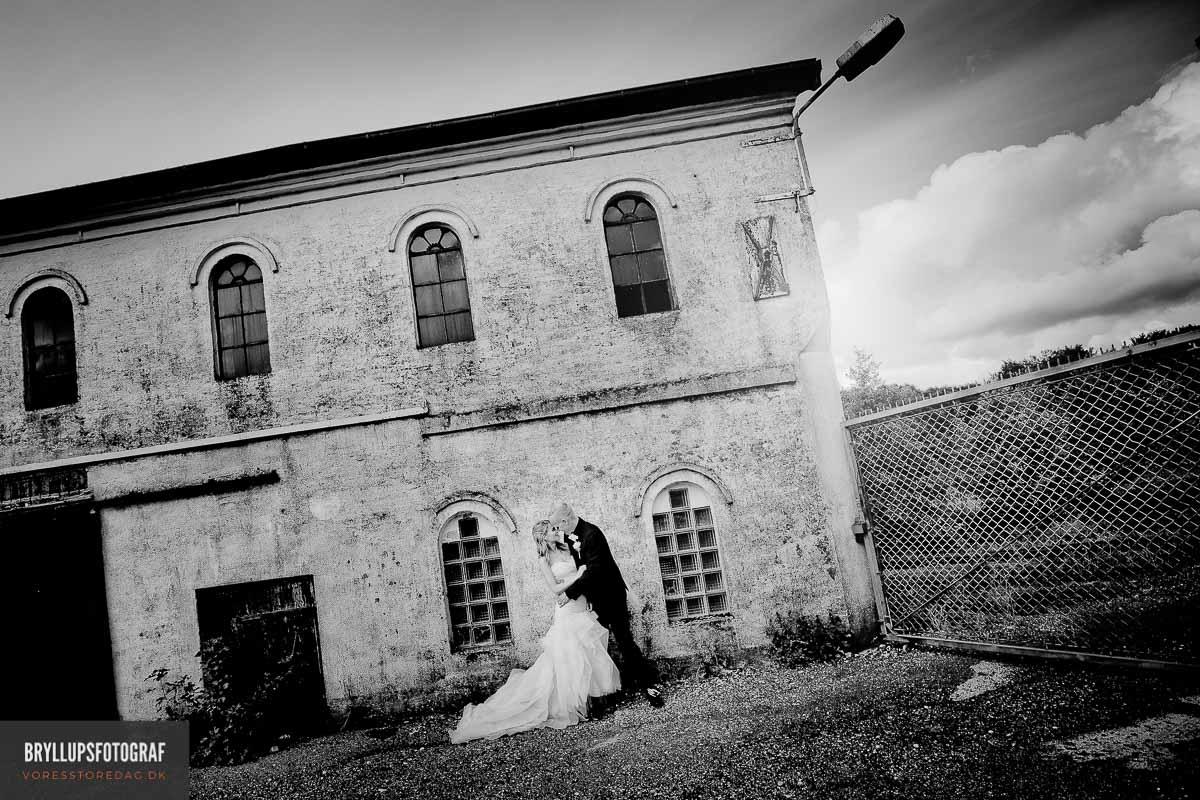 brudepar i hovborg kro bryllup