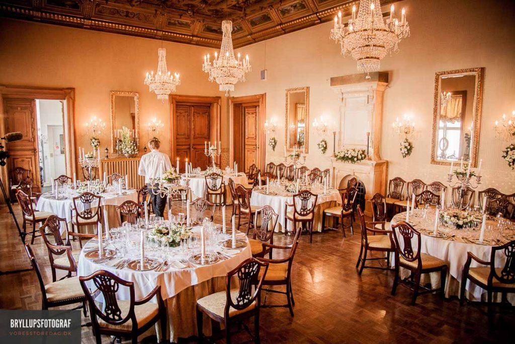 bryllupsfotos fra Hvedholm Slottet