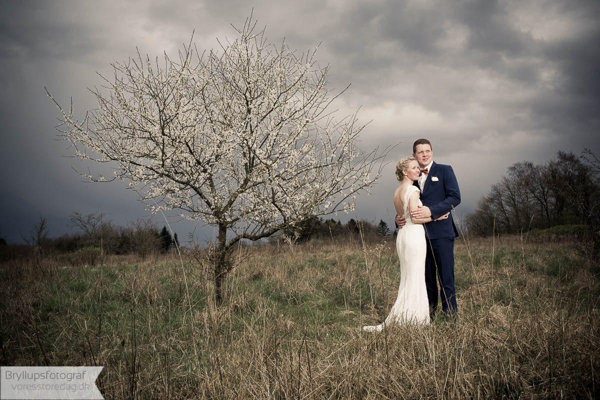 vielse i Engstofte kirke og bryllup på Bandholm hotel