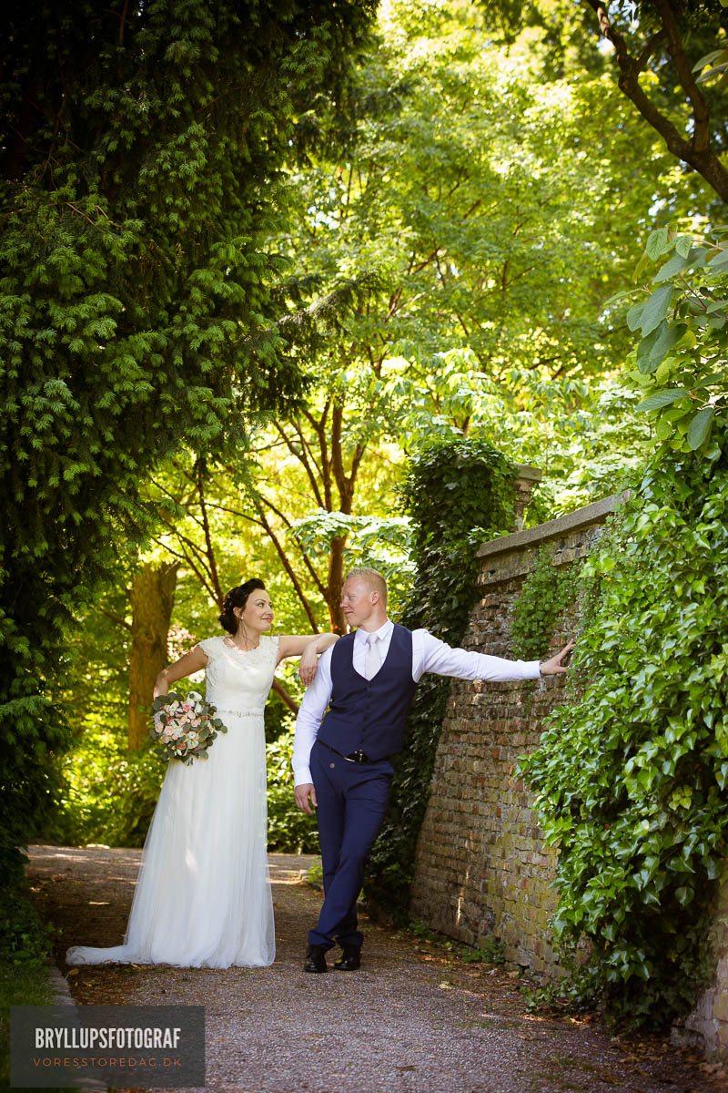 Bryllupsfest på Lyngsbo og vielse i Brenderup kirke