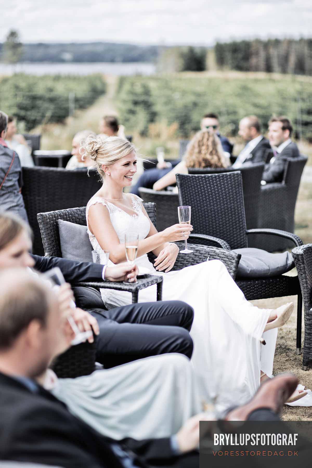 brud Jomfrubakken bryllupsfoto