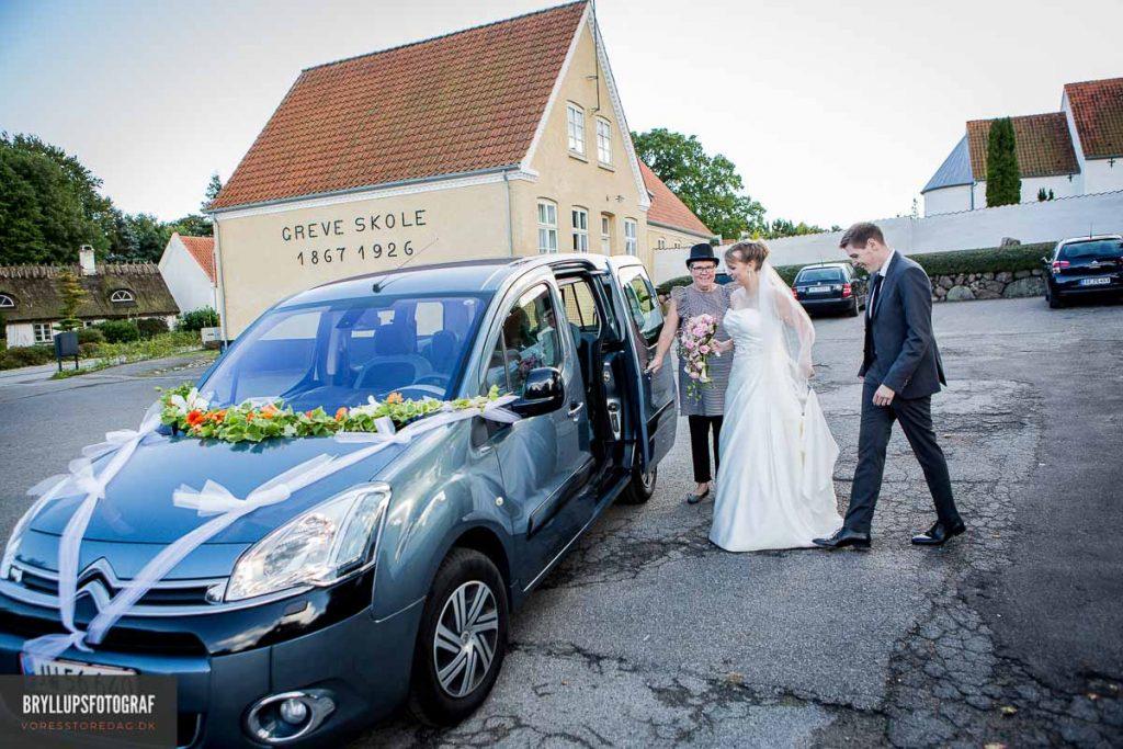bryllupsbilen greve kirke