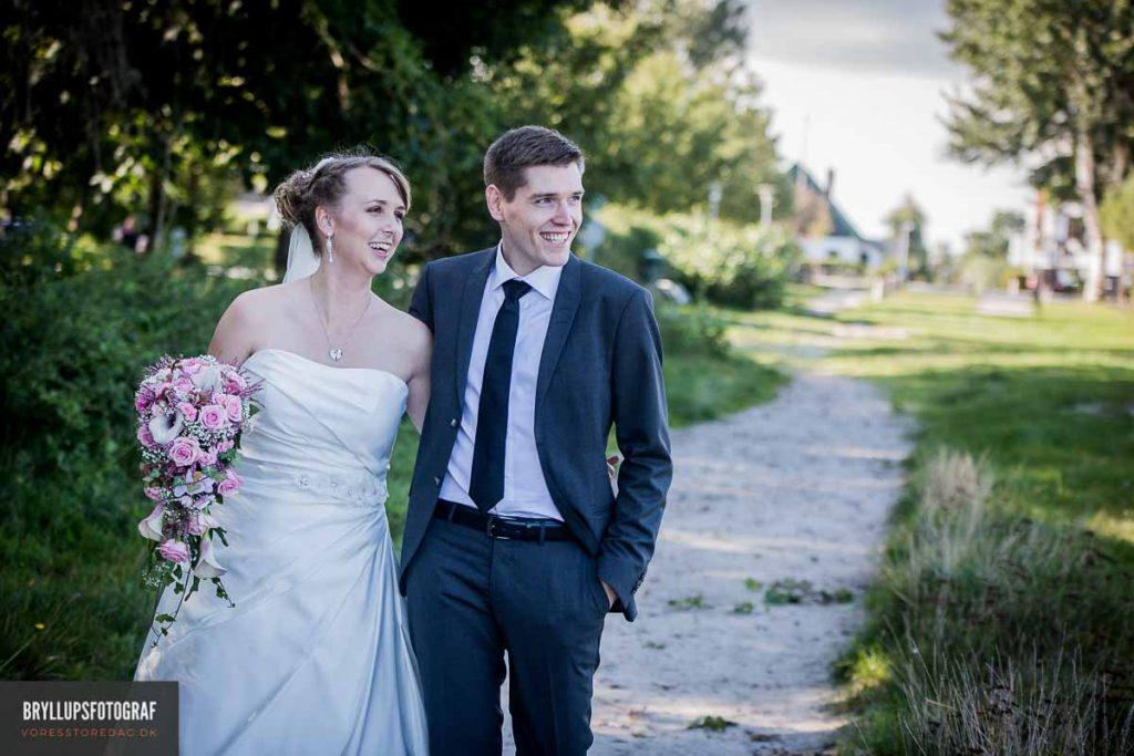 portrætter af brudeparret strandkro