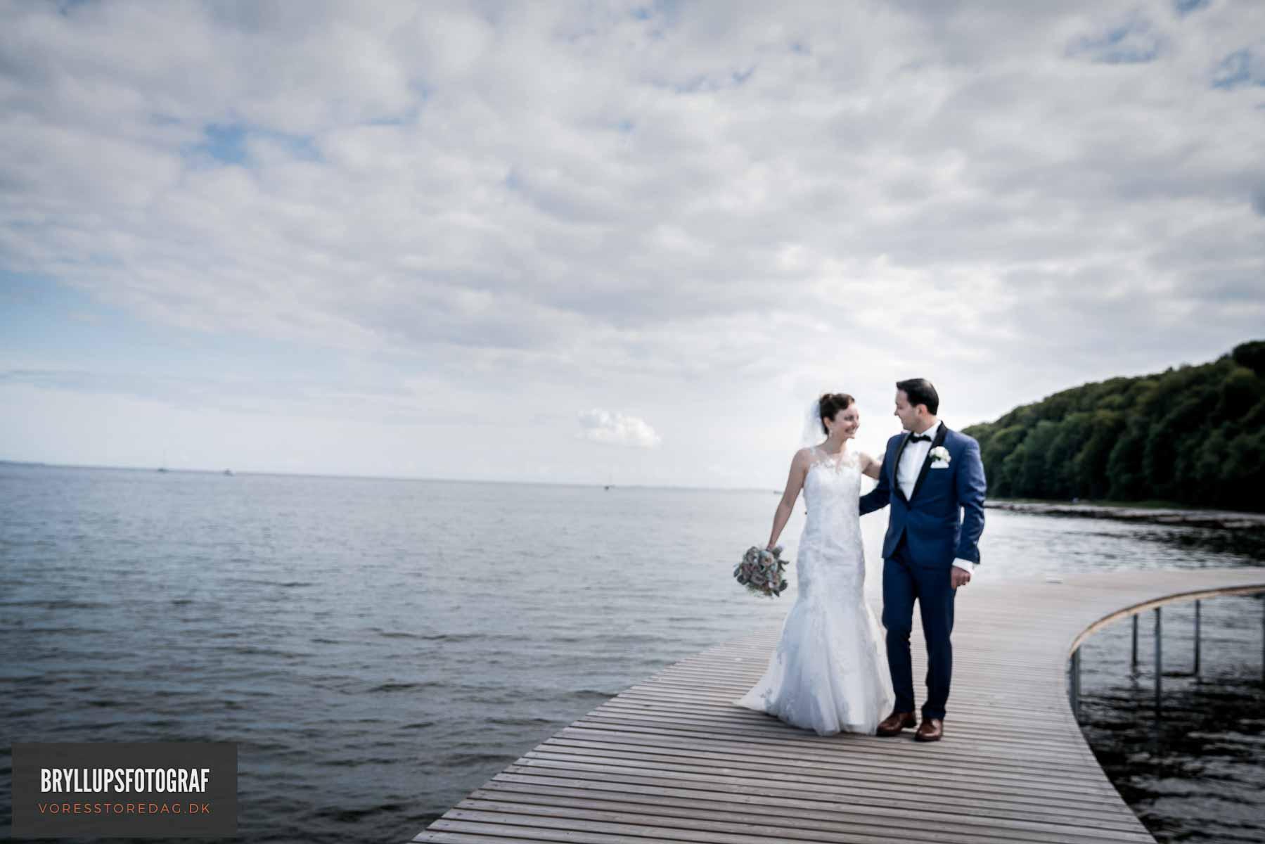 brudepar på den uendelige bro aarhus