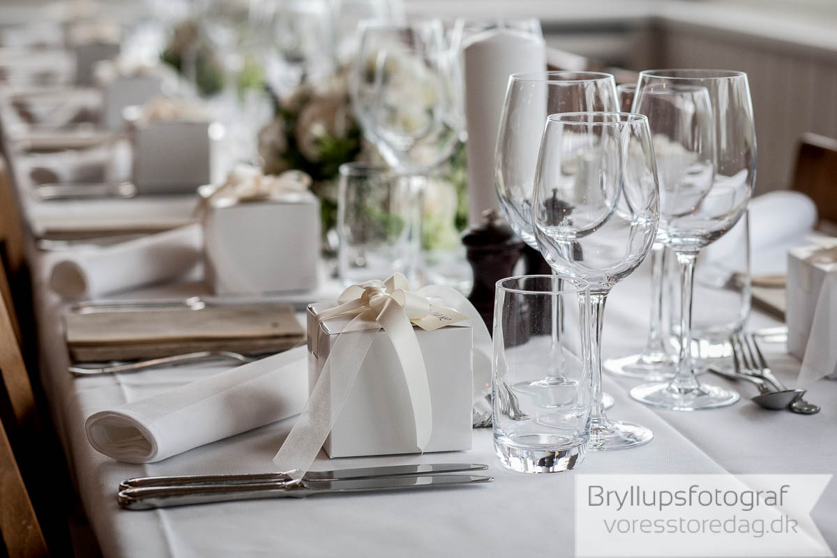 bordet bryllup Helenekilde badehotel