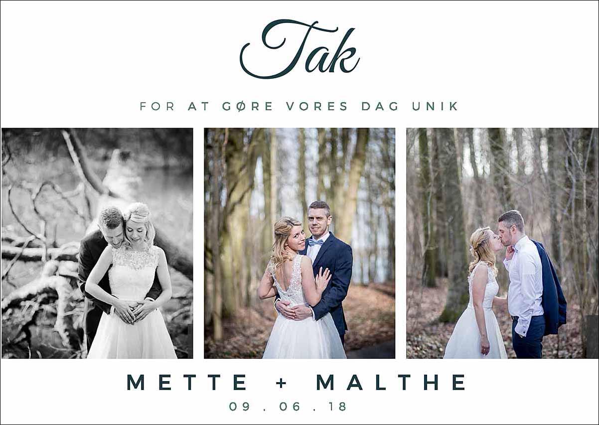 takke kort til bryllup